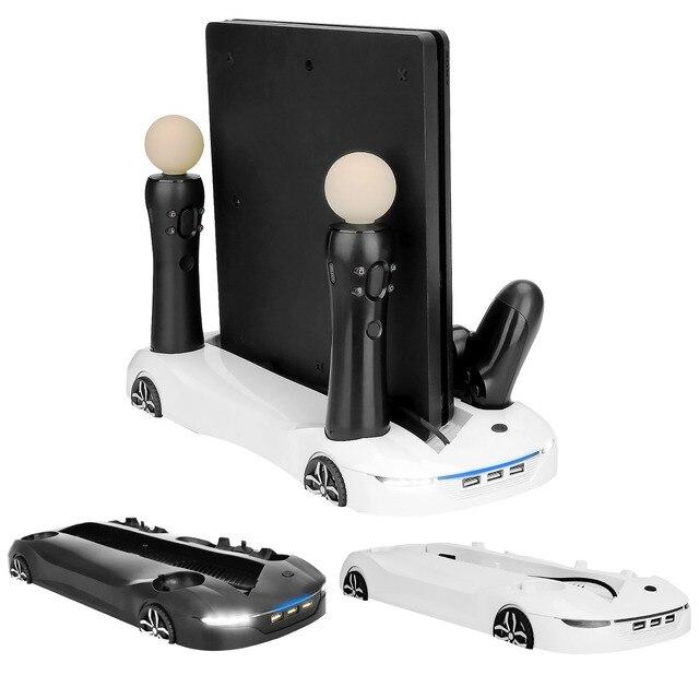 Bevigac Đa Chức Năng Làm Mát Đế Sạc Đứng Với 3 Cổng USB Dành Cho Máy Chơi Game Sony Playstation 4 PS4 Pro Slim PS Di Chuyển bộ Điều Khiển