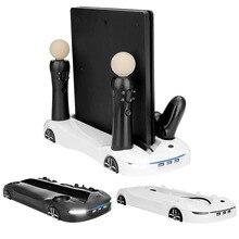 Bevigac soporte de Estación De Carga de refrigeración multifunción con 3 puertos USB para Sony Playstation 4 PS4 Pro Slim PS Move Controller