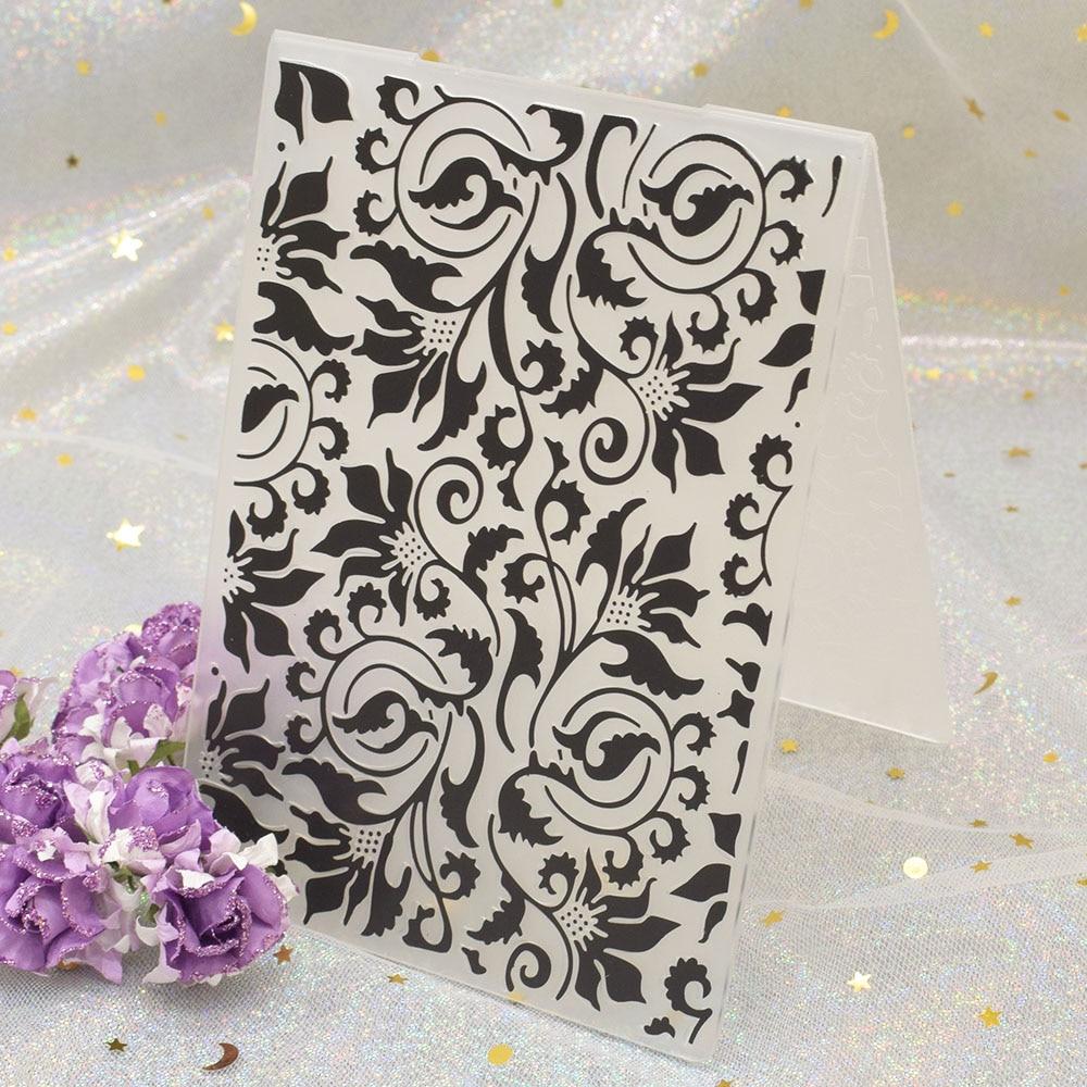 Flower Plastic Embossing Folder Template DIY Card Scrapbook Paper Craft Making