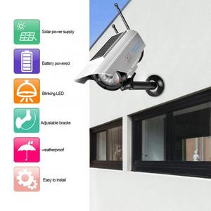 Fake Camera Solar Power Outdoor Simulation Dummy Camera Waterproof Security Surveillance With LED Light