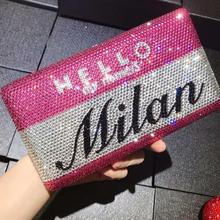Women Diamond Letter bag Evening Purse Bolso Mujer Ladies Luxury Celebrity Party Bag Clutch Wedding Bridal purse wallet clutches