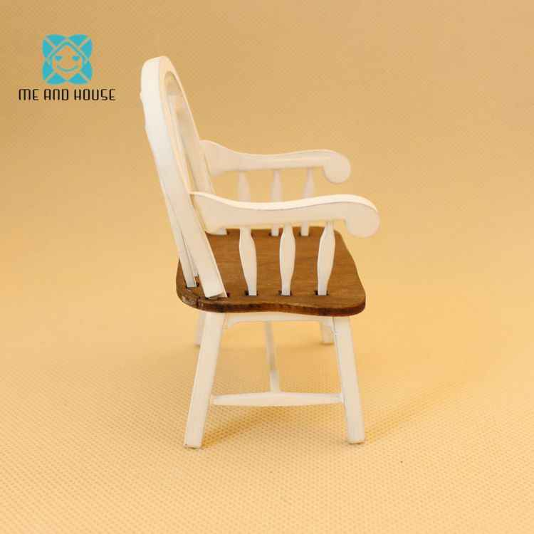 1: 12 Rumah Boneka Mini Furniture Model Buatan Tangan Kursi Warna Campuran Kurva Kursi