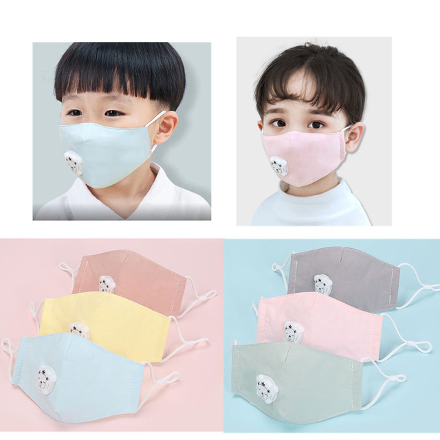 Boy Girl Anti Dust Face Mask Washing Anti PM2.5 Pollution Mask Kid Face Respirator Breathable Valve Masks Filter 3D Mouth Cover