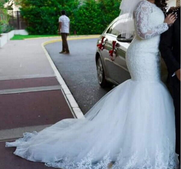 Free Shipping Custom Made Appliques Lace Mermaid With Long Sleeve Bridal Gown 2019 New Mother Of The Bride Dresses