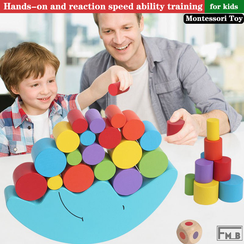 Wooden Toys Moon Balancing Game Educational Toys Montessori Toys For Kids