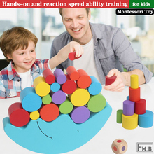 Wooden Toys Moon Balancing Game Educational Montessori For Kids