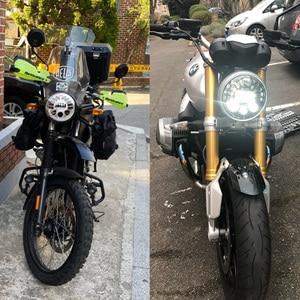 """Image 5 - مصباح أمامي LED قابل للتكيف مع دراجة نارية Harley ، 7 """"، لسيارات BMW R NineT R9T ، H4 ، 7 بوصة"""
