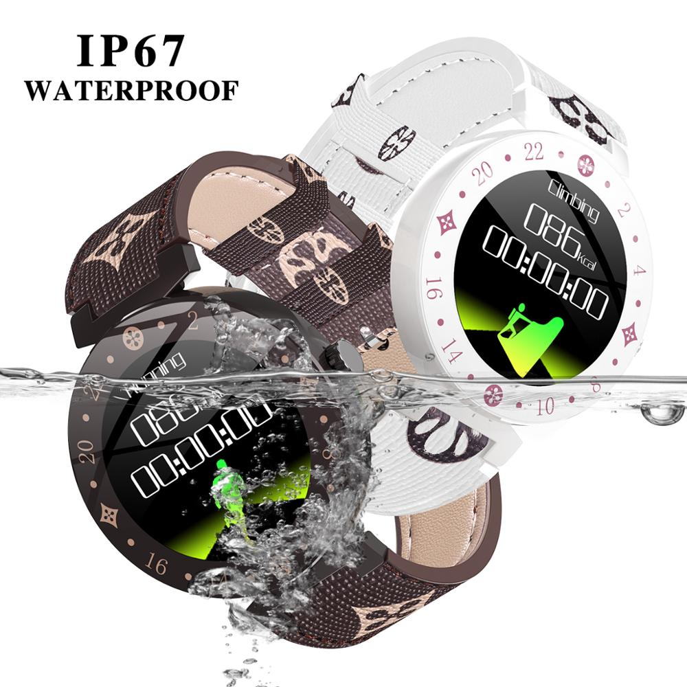 Image 4 - Fashion Noble Women Smart Watch LV88S For Girl gift fitness  Ladies leather Watches Waterproof Smartwatch Woman Clock Android  IOSSmart Watches