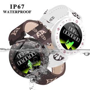 Image 4 - موضة نوبل المرأة ساعة ذكية LV88S لفتاة هدية اللياقة البدنية السيدات ساعات جلد مقاوم للماء ساعة ذكية امرأة ساعة أندرويد IOS