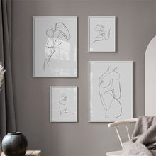 Abstract nude kiss Line Body Art Prints Nordic Posters And Prints Wall Art Canvas Painting Wall Pictures For Living Room Decor(China)