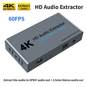 4K HDMI Splitter HD Audio Extractor 1 IN 2 OUT HDMI to Optical Spdif Toslink with 3.5mm Stereo Audio Out Video Converter Adapter(China)