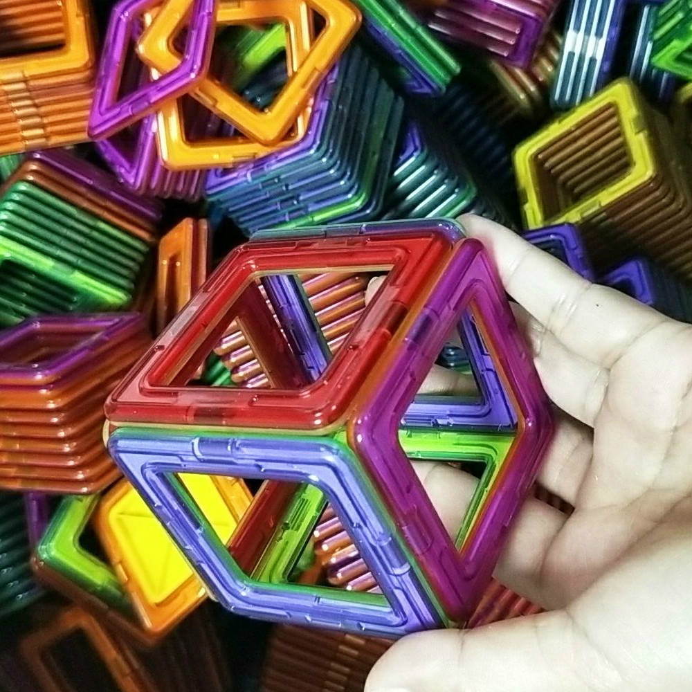 30pcs Big Size Magnetic Building Blocks Triangle Square Bricks Magnetic Designer Construction Toys for Children Kids Gifts
