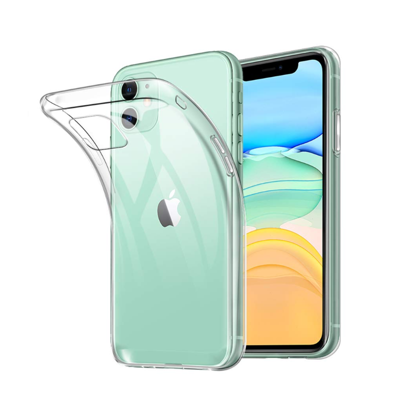 For Apple iPhone 11 pro Max Case Slim Clear TPU Silicone Protective coque for iPhone X XR XS Max 7 8 5S SE 6 6s plus cover cases