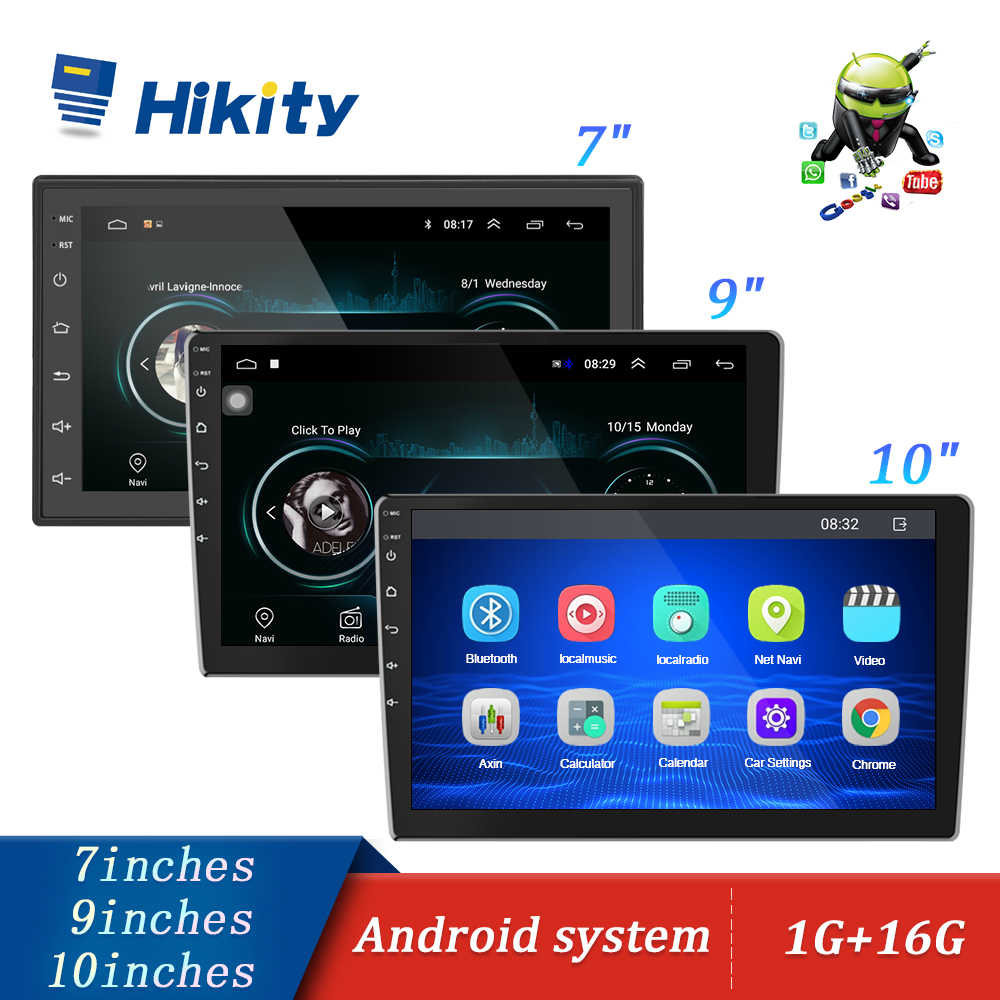 "Hikity 10.1 ""/9"" 7 ""Car Multimedia Speler 2 Din Android Auto Stereo Radio Bluetooth Audio Mirrorlink MP5 Speler Met Achteruitrijcamera"
