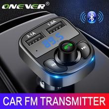 ONEVER fm-передатчик AUX модулятор громкой связи bluetooth автомобиль автомобильный комплект аудио MP3 плеер с 3.1A Quick Charge Dual USB Автомобильное зарядное устройство