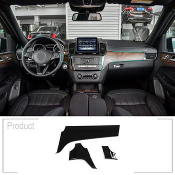 3pcs ABS Car Interior Center Console Protection Panel Cover Trim For Mercedes Benz GLE 350 GLS 400 Class 2013-2019Car Accessoriy