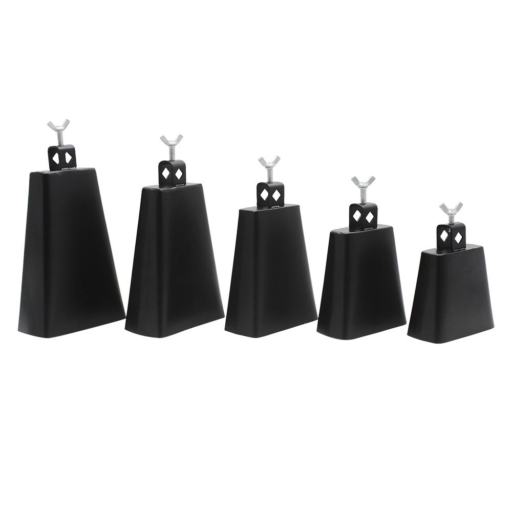 IRIN 4/5/6/7/8 Inch Metal Steel Cattlebell Cowbell Personalized Cow Bell Percussion Music Instruments Steel Cowbell Black