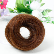 Salonchat Short Remy Hair Extension Chignon Donut Roller Bun Hairpiece for Women 4Colors Available Brazilian Hair Donut Chignon(China)