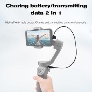 Image 3 - עבור DJI אוסמו נייד 3 כף יד Gimbal מייצב טעינת כבל 35CM מרפק USB מטען להתחבר חוט DJI אוסמו נייד אבזרים