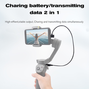 Image 3 - Voor Dji Osmo Mobiele 3 Handheld Gimbal Stabilizer Oplaadkabel 35 Cm Elleboog Usb Charger Sluit Draad Dji Osmo Mobiele accessoires