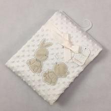 75 * 100CM Hot Silver Pressure Foam Super Soft Parent-Child Rabbit Double Crystal Fleece Blanket Multi-Purpose Blanket