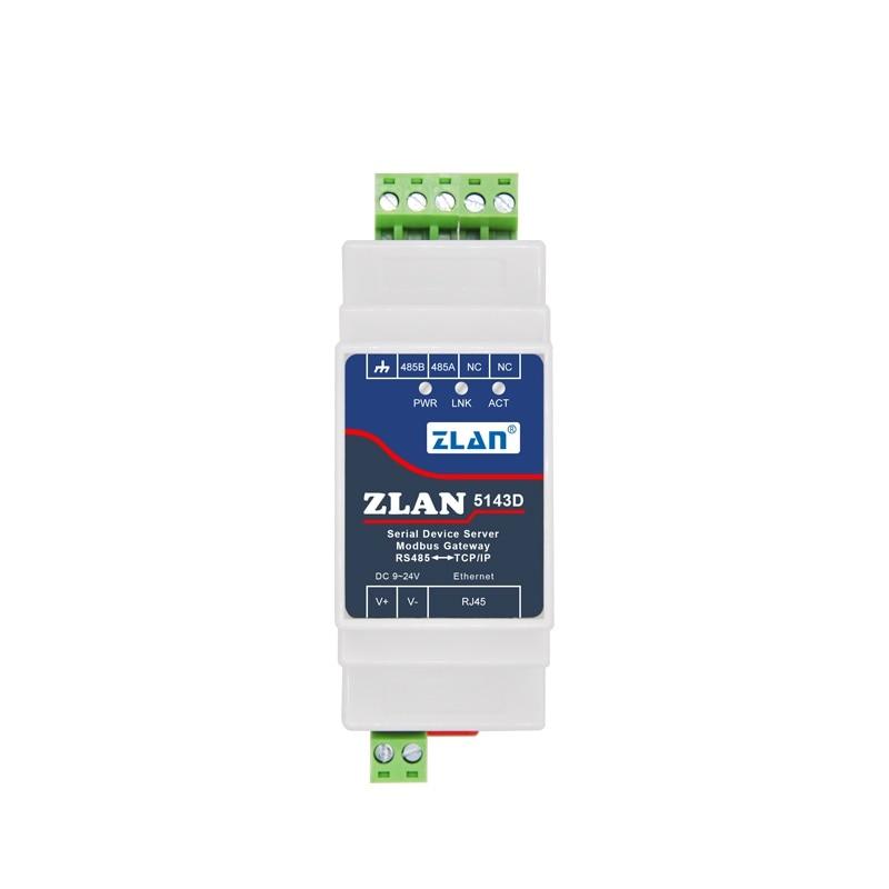 ZLAN5143D Din Rail Serial RS485 To Ethernet TCP IP Server Module Ethernet Converter Modbus RTU To Modbus TCP Unit