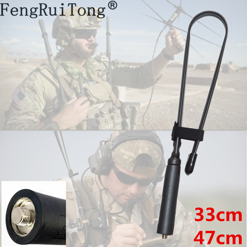 Folding Tactical Antenna For Motorola GP340 GP338 GP88 GP3688 GP328 GP88 HT750 Walkie Talkie Dual Band VHF UHF 8W Antenna