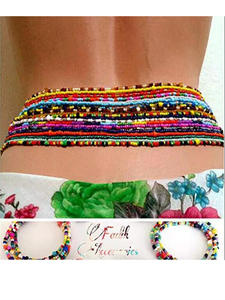 Jewelry Beaded Belly-Waist-Chain Tribal Ethnic Bohemian Sexy Resin African Statement