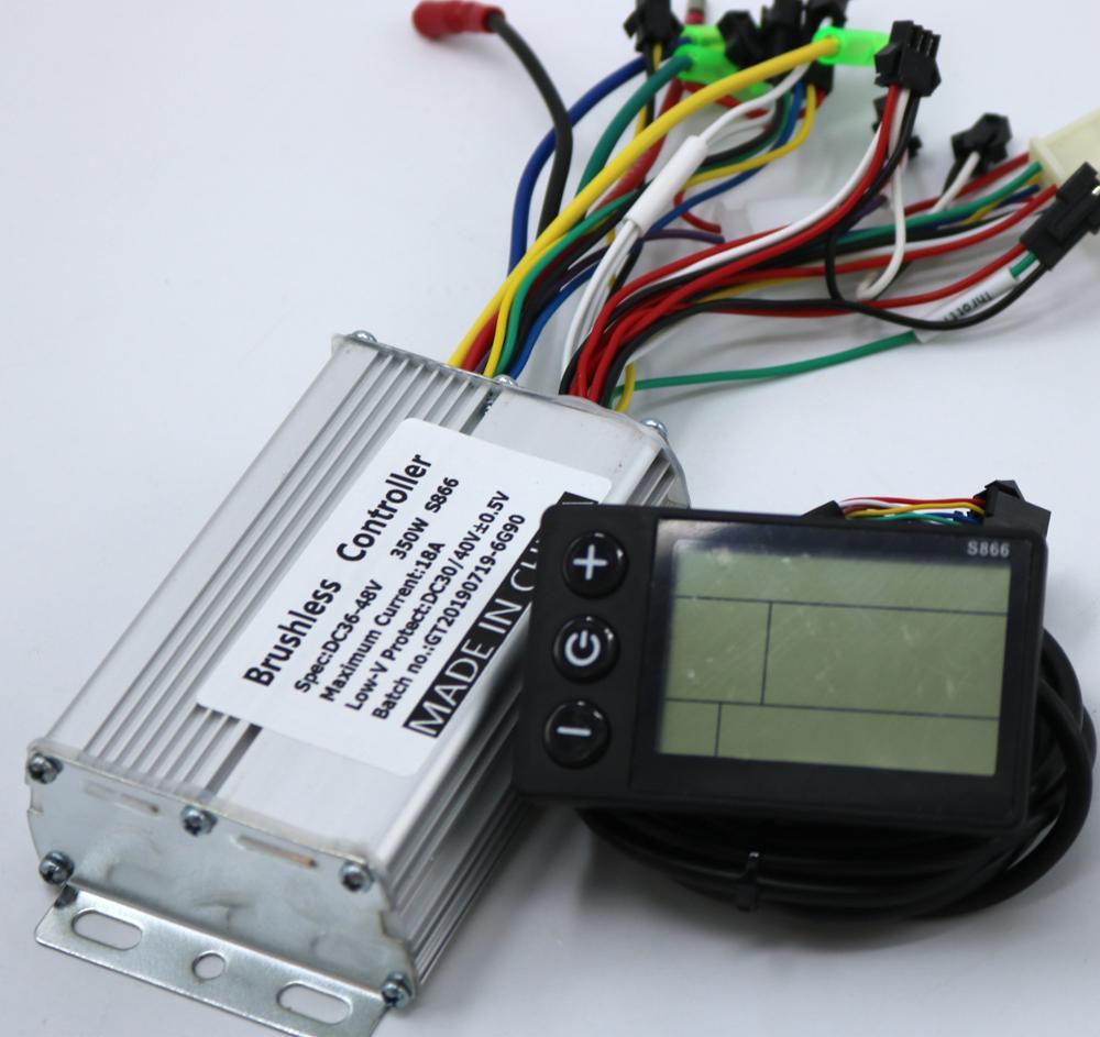 GREENTIME 36V 48V 350W 18A BLDC contrôleur de moteur e-bike contrôleur de vitesse sans brosse et S866 écran LCD un ensemble