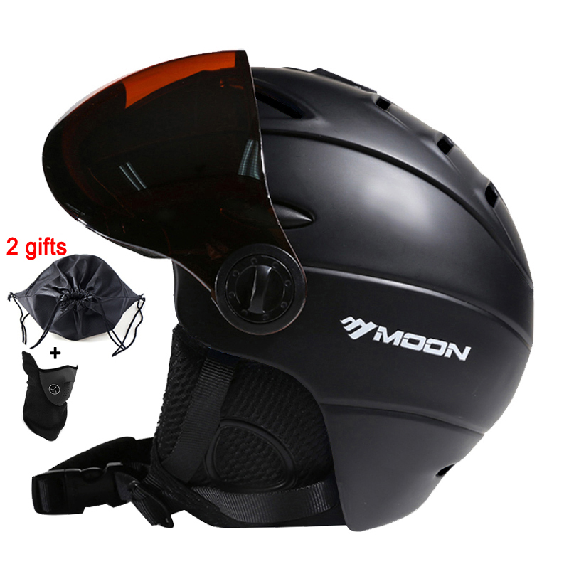 MOON Skiing Helmet Winter Outdoor Sports Men Women Ski Helmets Skiing Snowboard Snow Skateboard Helmet With Goggles Glasse Visor