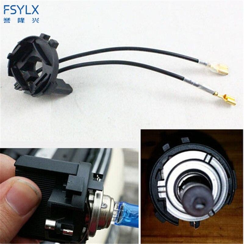 FSYLX H7 HID Xenon Headlight Bulb Adapter Holder For Vw GOLF 7 HID Xenon Bulb Socket For VW Tiguan/Golf 7/Scirocco/Sharan/Touran