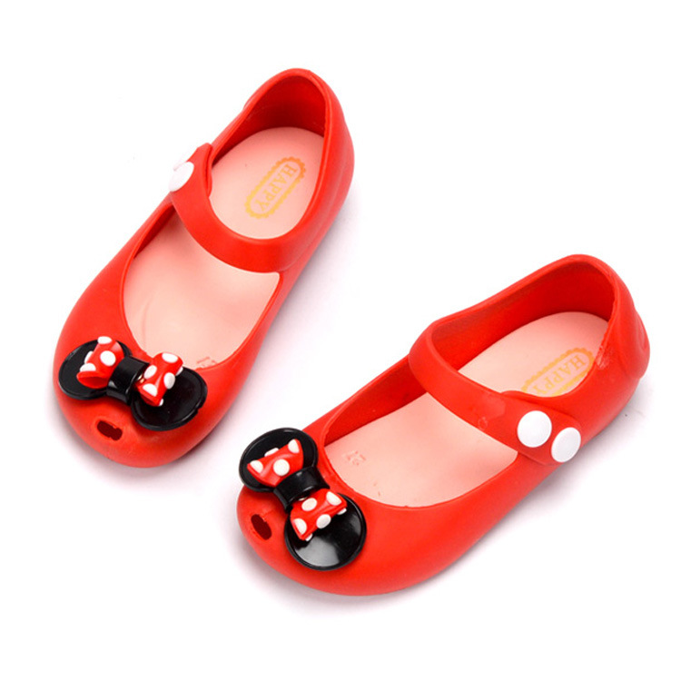 2020 Girl Jelly Sandals Crown Kids Sandals Children Beach Shoes Non-slip Toddler Little Girl Shoes Size 24-32 Candy Color