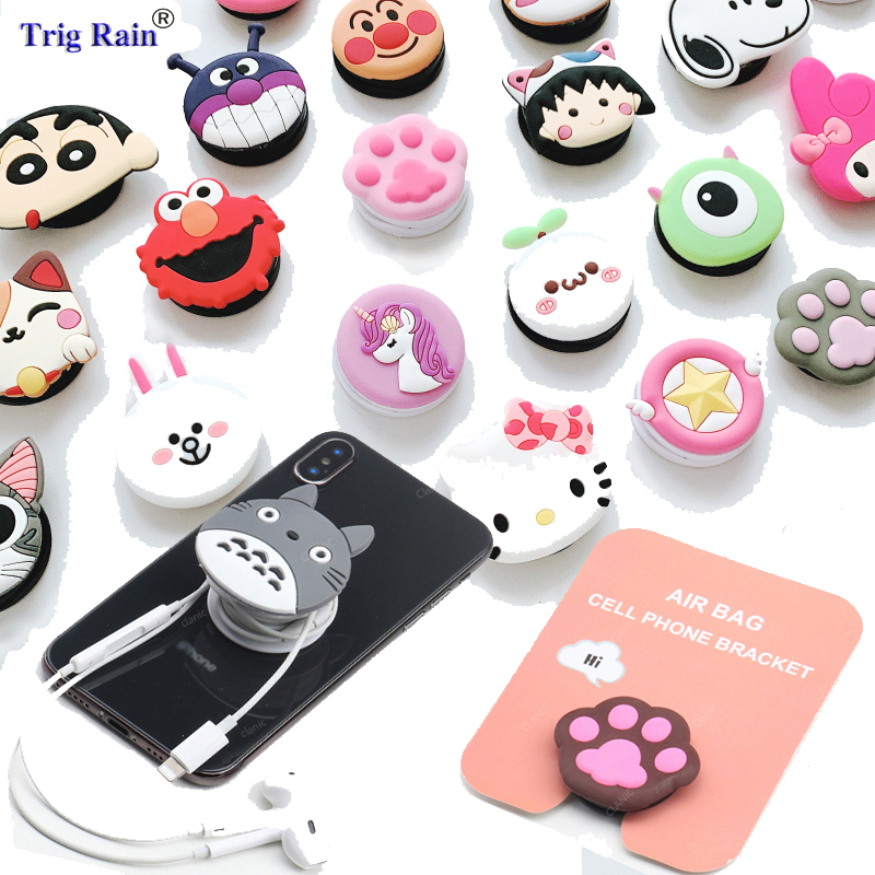 Cute Cartoon Cable Organizer Bobbin Winder Air Bag Cell Phone Bracket Cable Management Marker Holder For Iphone Xiaomi