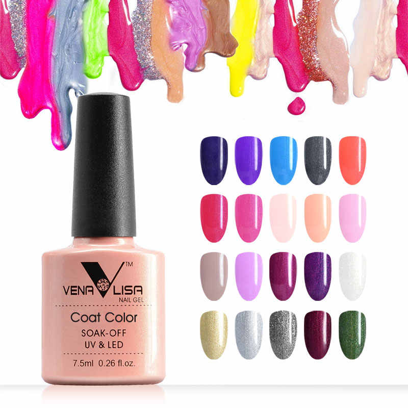 7.5Ml Venalisa Nail Gel Polish Hoge Kwaliteit Nail Art Salon 60 Kleuren Soak Off Uv Led Nagel Gel Lak camouflage Kleur Lak