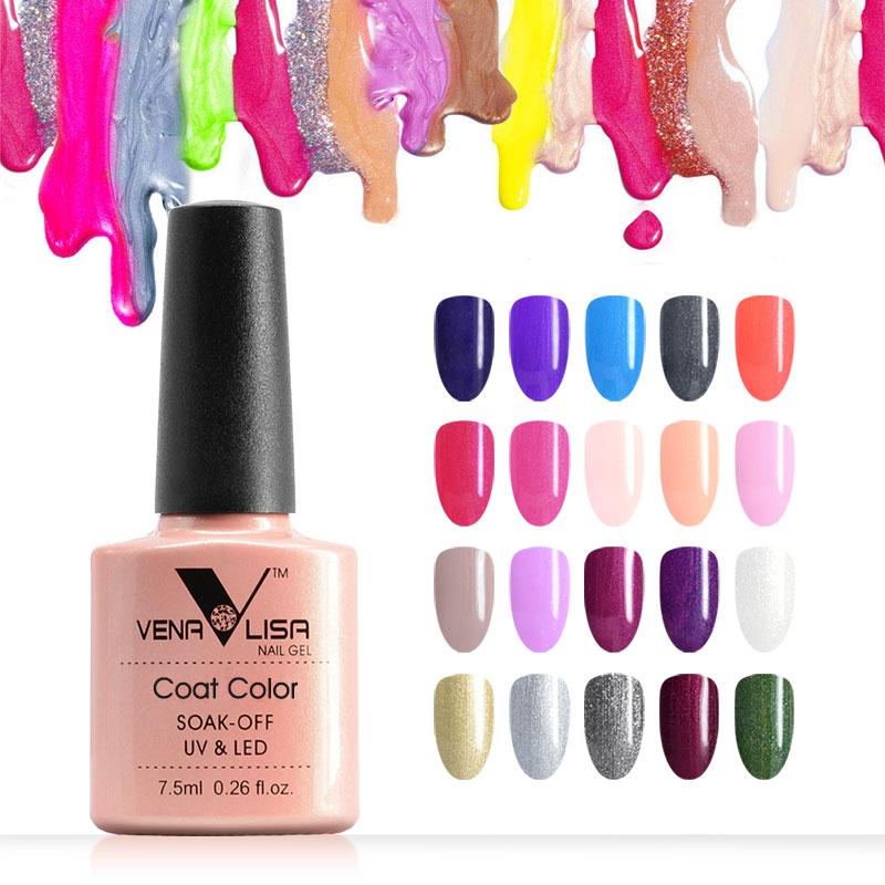 7.5ml VENALISA Nail Gel Polish High Quality Nail Art Salon 60 Colors Soak Off UV LED Nail Gel Varnish Camouflage Color Lacquer