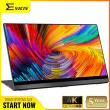 "Eviciv 4K Draagbare Monitor 15.6 ""Auto Draaien Touch Screen Uhd 3840X2160 Usb C Touchscreen Laptop Macbook tweede Display Lcd Hdmi(China)"