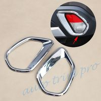 Chrome Rear Tail Fog Light Lamp Cover Fit For Mitsubishi Outlander 2016 2017 2018 2019 2020 Accessories Foglight Trim Molding