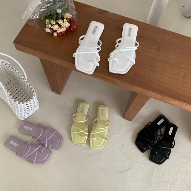 Toppies femmes sandales dété femmes chaussures plates kroean mode confortable chaussures en caoutchouc femmes sandales été hing talon