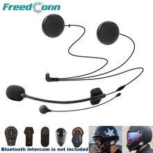 Freedconn acessórios da motocicleta intercom duro macio 2 in1 fone de ouvido mic para TCOM-SC/vb FDC-01VB colo T-MAX T-REX qualquer rosto capacete