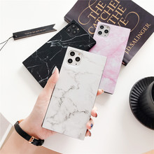 Smooth square Marble phone case coque For iPhone 11 pro max XS XR XS Max X