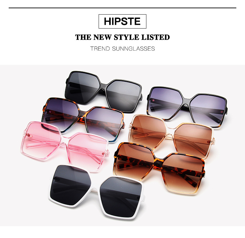 He90908db11304a8ba868af920ceafa077 - Oversized Sunglasses Women Vintage Brand Sun Glasses Shades UV400 Big Frames Sunglass Female  Male Retro Eyewear Pink White
