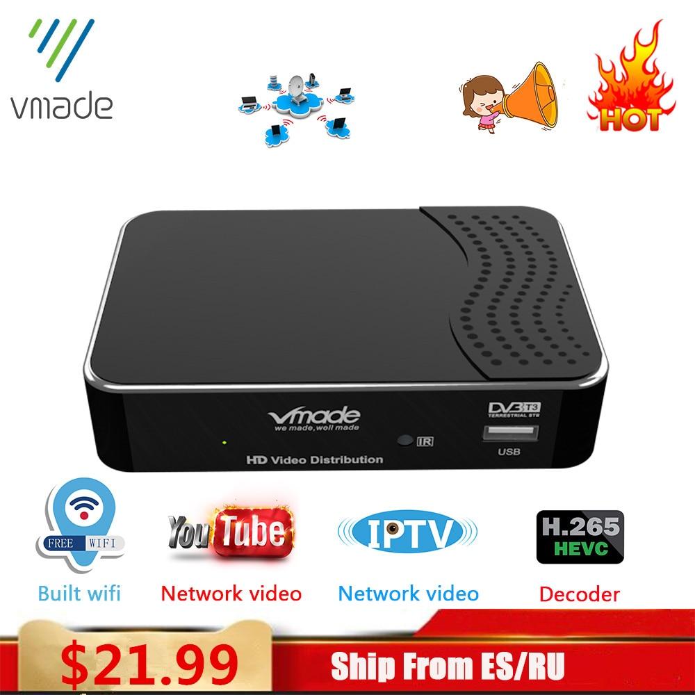 Vmade 2020 Set Top Box DVB T2 Tterrestrial Receive Full HD 1080P DVB T2 H.265 Decode Support Built WIFI Youtube AC-3 TV BOX