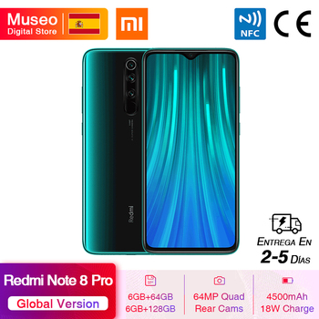 Global Version Xiaomi Redmi Note 8 Pro 64GB / 128GB ROM 64MP Quad Cameras MTK Helio G90T Smartphone 4500mAh 18W QC 3.0 UFS 2.1