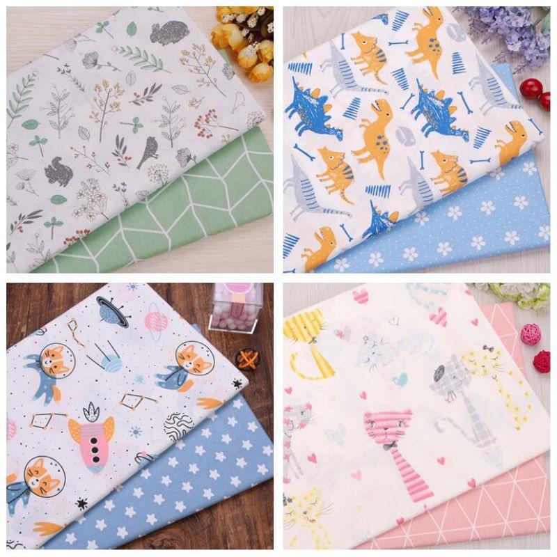 Elephant /& Fish 100/% Cotton Fabric *Fat Quarter Bundle* 4 Craft,Patchwork,Quilts