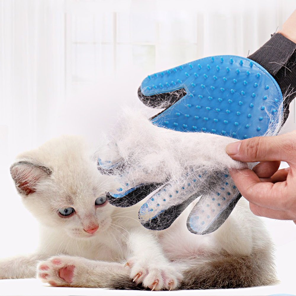Glove Grooming Brush Pet Soft Silicone Dog Pet Brush Pet Grooming Glove Cat Bath Cat Cleaning Supplies Pet Glove Cat Combs