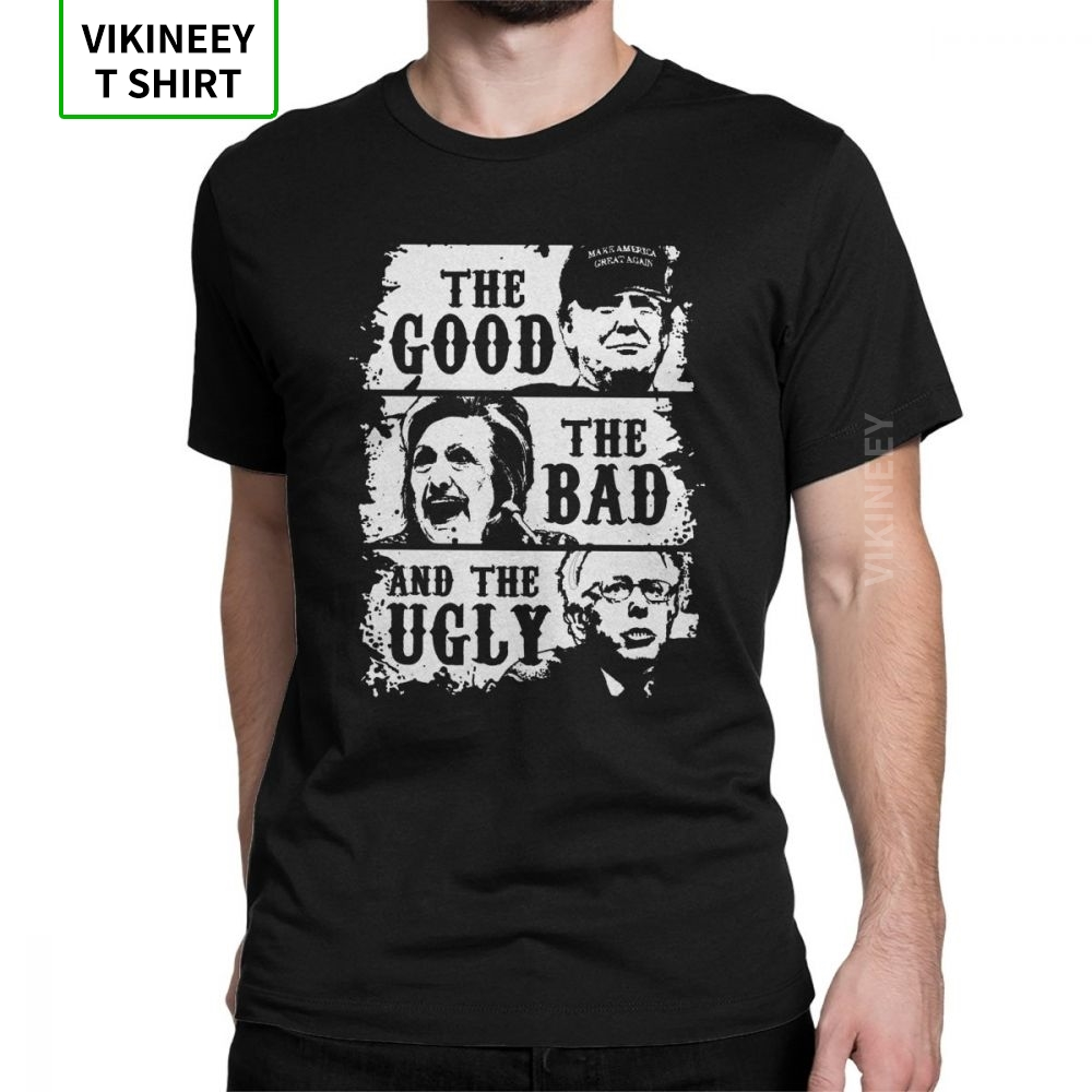 The Good The Bad And The Ugly Trump 2020 T-Shirt For Men Short Sleeve Vintage Tee Shirt 100% Cotton Clothes Wholesale T Shirts