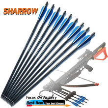 10/20/30 Pcs Mix Carbon Crossbow Arrow 20 Inches OD 8.8mm with 125 Grain Arrowhead For Archery Hunting Shooting Accessories