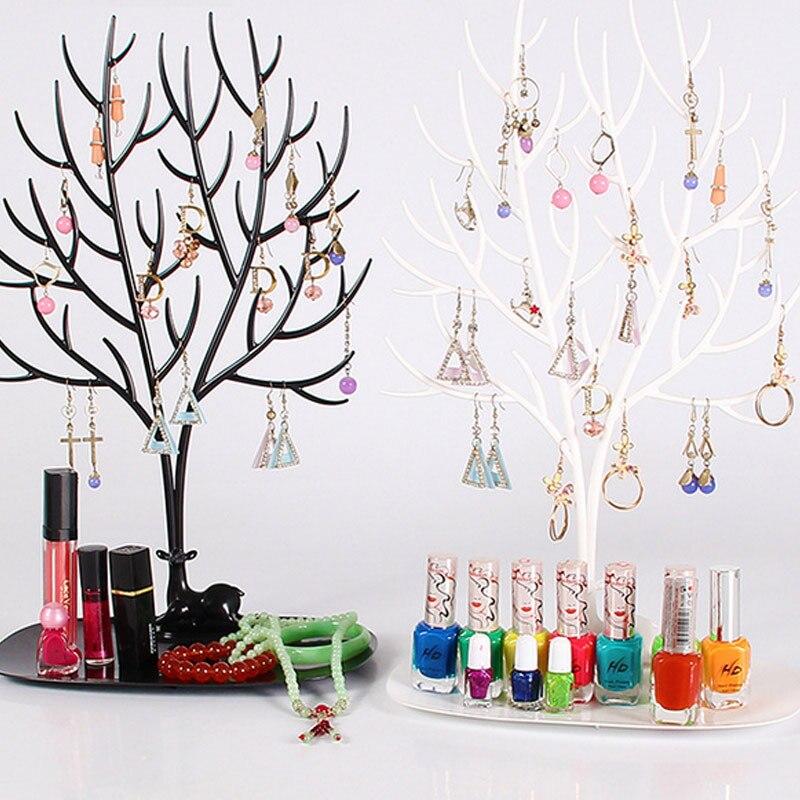 Deer Earrings Necklace Ring Pendant Bracelet Jewelry Display Organizer Holder Stand Tray Tree Storage Racks Jewelry Shelf Holder