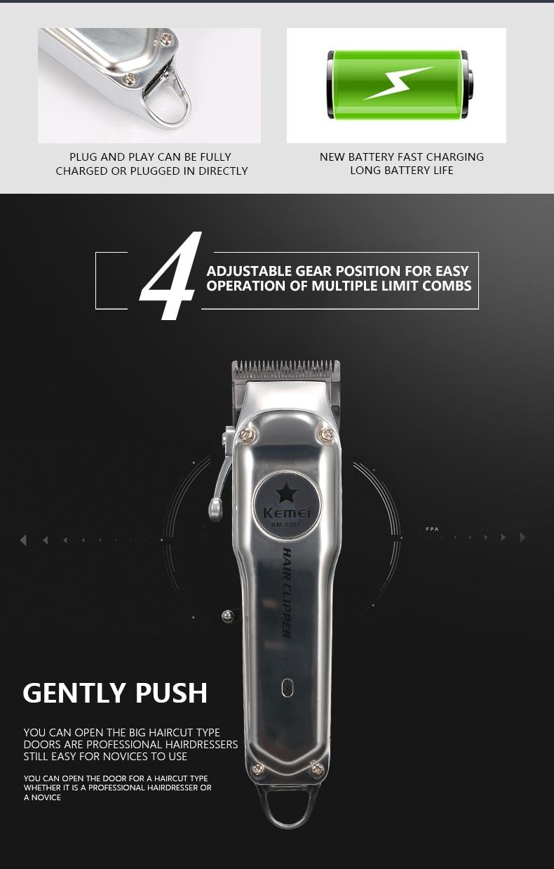 máquina de cortar cabelo barba elétrica dos homens