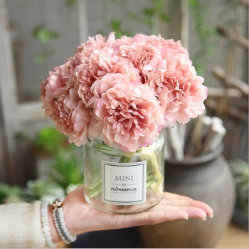 5pcs Artificial flower silk peony for home decoration accessories wedding bouquet for bride high quality fake flower living room yooromer 5pcs lot 8 5cm high quality peony flower head silk artificial flower wedding decoration diy garland craft flower